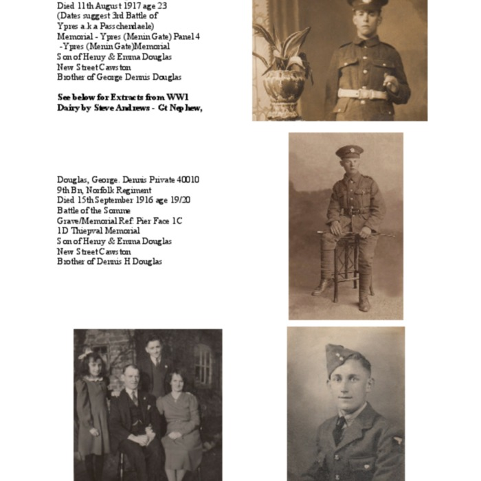 Douglas Brothers and Extracts from WW1 Diaries by Steve Andrews.pdf