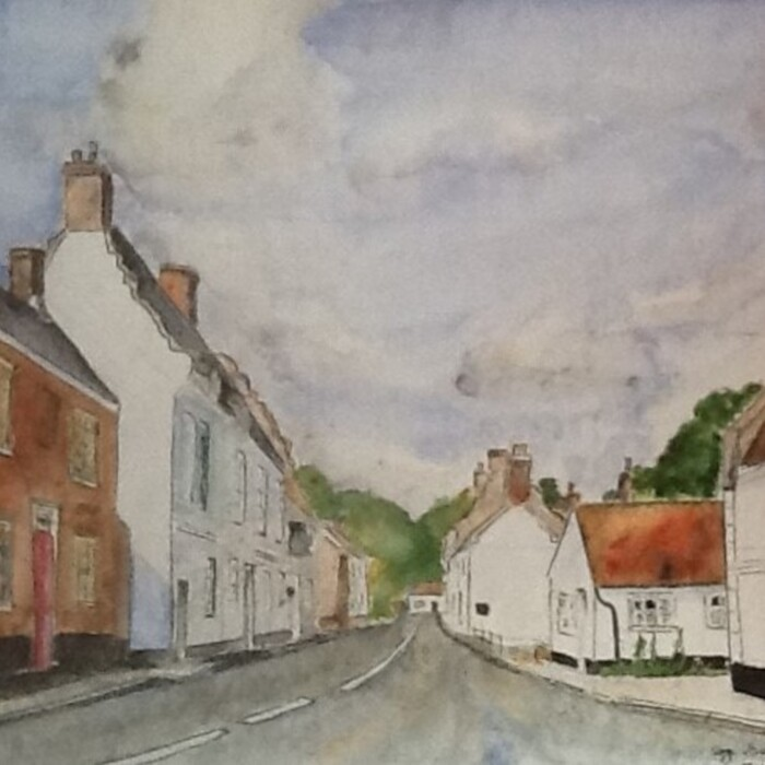 Painting by Sarah Wilkins of the High St. June 2020.jpg