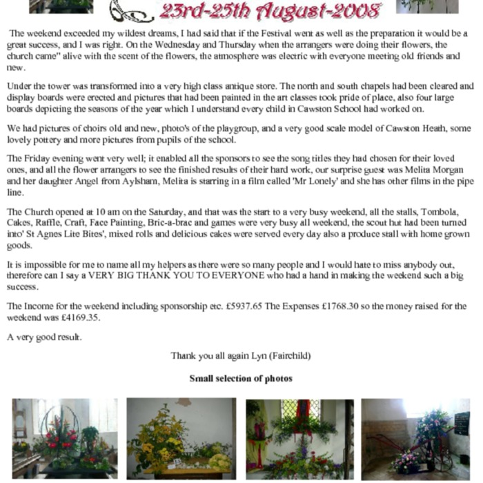 Church Flower Festival 2008